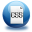 64x64px size png icon of file CSS