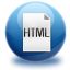 64x64px size png icon of file HTML