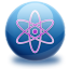 64x64px size png icon of molecule