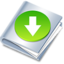 64x64px size png icon of download folder