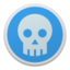 64x64px size png icon of Skull blue