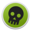64x64px size png icon of Skull green