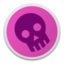 64x64px size png icon of Skull magenta