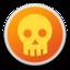64x64px size png icon of Skull orange