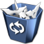 64x64px size png icon of RecycleBin Full