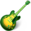 64x64px size png icon of Garage Band