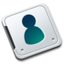 64x64px size png icon of Folder contact