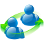64x64px size png icon of peer to peer