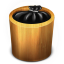 64x64px size png icon of Trash Wood Full