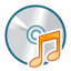 64x64px size png icon of Cd audio unmount