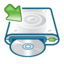 64x64px size png icon of Cd writer mount
