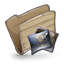 64x64px size png icon of Folder Pictures Folder