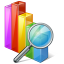 64x64px size png icon of chart search