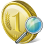 64x64px size png icon of coin search