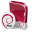 64x64px size png icon of Debian disc