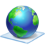 64x64px size png icon of Windows 7 earth