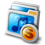 64x64px size png icon of mymusic share