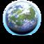 64x64px size png icon of Aqua Globe 2