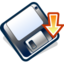64x64px size png icon of 3floppy mount