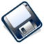 64x64px size png icon of 3floppy unmount