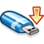 64x64px size png icon of usbkey mount