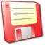 64x64px size png icon of Floppy Disk Red