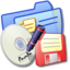 64x64px size png icon of Folder Blue Backups