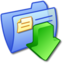 64x64px size png icon of Folder Blue Downloads 3