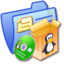 64x64px size png icon of Folder Blue Software Linux
