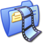 64x64px size png icon of Folder Blue Video 2