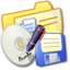 64x64px size png icon of Folder Yellow Backups