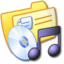 64x64px size png icon of Folder Yellow Music 1