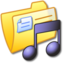 64x64px size png icon of Folder Yellow Music 3