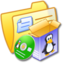 64x64px size png icon of Folder Yellow Software Linux