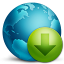 64x64px size png icon of network download