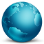 64x64px size png icon of network globe connected