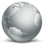 64x64px size png icon of network globe disconnected