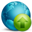 64x64px size png icon of network upload