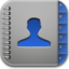 64x64px size png icon of contacts blue