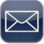 64x64px size png icon of mail blue glow