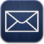 64x64px size png icon of mail blue