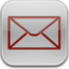 64x64px size png icon of mail red glow