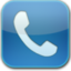 64x64px size png icon of phone blue glow