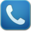 64x64px size png icon of phone blue