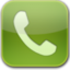 64x64px size png icon of phone green glow