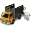 64x64px size png icon of Cattle Truck with Cattle