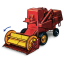 64x64px size png icon of Combine Harvester with Movement