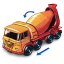 64x64px size png icon of Foden Concrete Truck with Movement