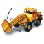 64x64px size png icon of Hatra Tractor Shovel with Movement