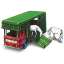 64x64px size png icon of Horse Box with Two Horses
